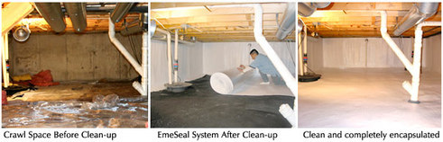 Newark OH | Crawl Space Encapsulation | Humidity in Crawl Space | Moisture | Ventilation | Insulate Crawl Space | Crawl Space Liners | Vapor Barrier
